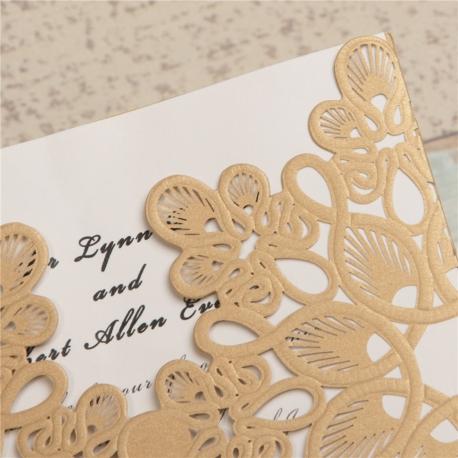 Partecipazioni Matrimonio Eleganti.Partecipazione Nozze Taglio Laser Eleganti Grafica Elettronica Srl