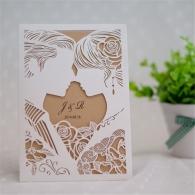 Partecipazione nozze taglio laser Sposi