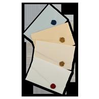 Partecipazioni colorate a due pieghe